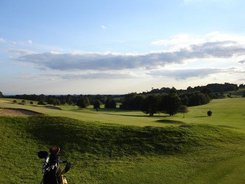 Golf course in the sun