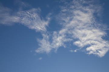Blue sky in nice sunny summer day