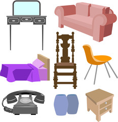 selection of furniture