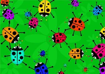 Keuken foto achterwand Lieveheersbeestjes beetle swarm