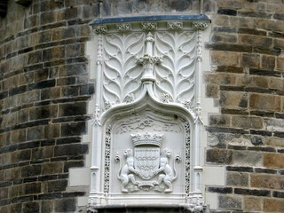 Embleme et ecusson du chateau des ducs de bretagne à nantes