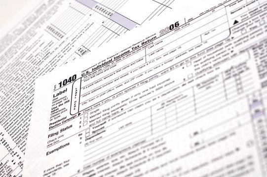 A US income tax form.