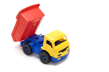 series object on white - toy truck