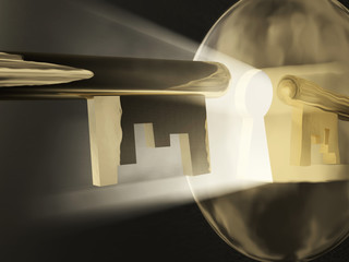 magic key before a keyhole