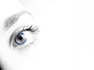 Pupila azulada
