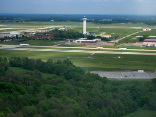 Stock pictures of an aerial view of an airport