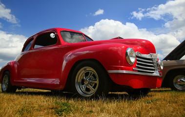 Foto op Plexiglas Oude auto s Red Vintage Truck