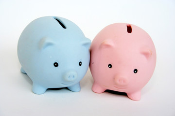 Two piggy banks