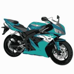 moto bleue ciel