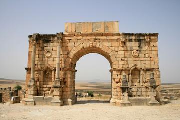 cité romaine en ruine au maroc