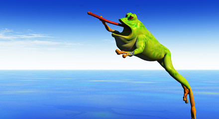 frog leaps