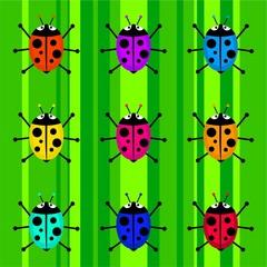 Keuken foto achterwand Lieveheersbeestjes funky ladybug background