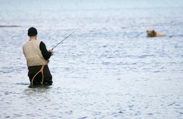 Fishing for salmon in Alaska