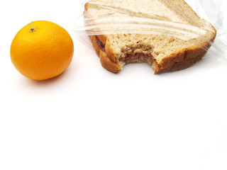 lunch - sandwich and orange
