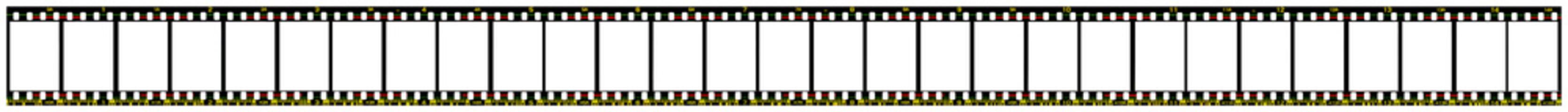 Filmstreifen für 18x24mm Halbformat auf Kleinbildfilm