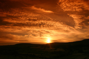 Sunset over Swaledale