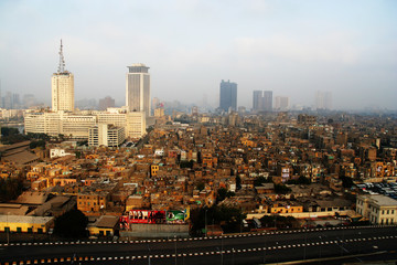 Skyscrapers and slums in Cairo