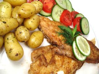 fried fish close-up