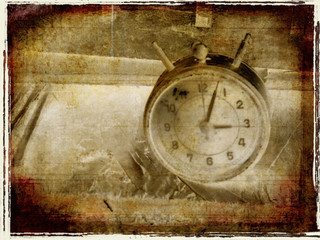 grungy abstract of time