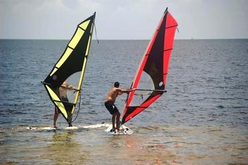 Novice Windsurfers
