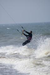 kite dans la vague