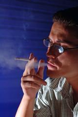 Photo of a cigarette smoking.