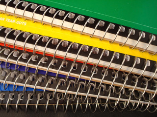 Spiral notebooks back to school