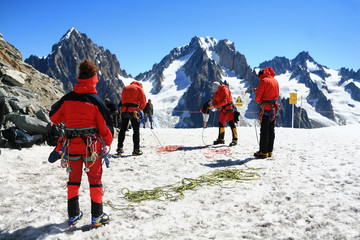 Alpinisme sur le massif du Mont-blanc