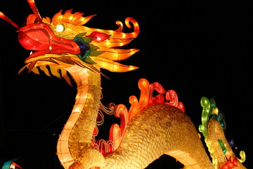 dragon during chinese new years lantern festival