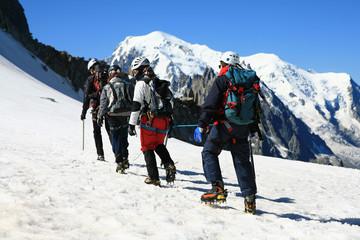 Alpinisme en cordee