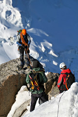Wall Murals Mountaineering Alpinistes sur une rocher