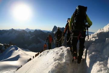 Foto op Aluminium Alpinisme Alpinistes