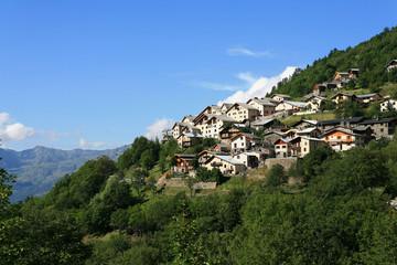 Village de montagne en haute savoie