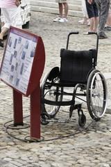 fauteuil avec antivol