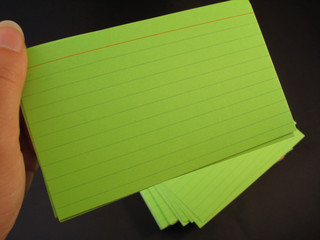 Index Cards in hand 2