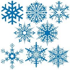 Snowflakes B - illustration
