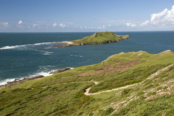 Worms Head , Gower , South Wales, UK