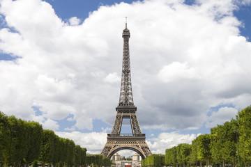 Eiffel tower on cloud sky