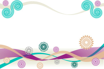 Festive wide vector background