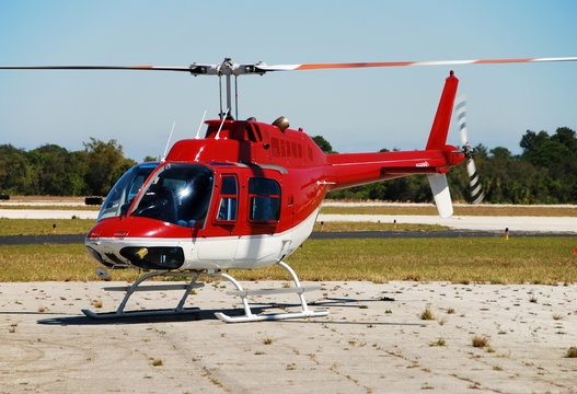 Bell 206 light helicopter