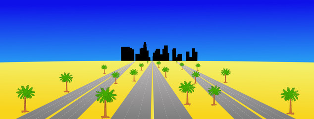Los Angeles and highways