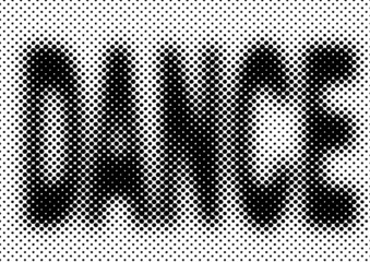 dance vector halftone party background