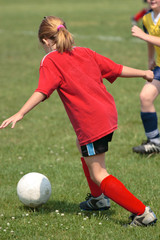 Youth Soccer or Football Player in Action 2