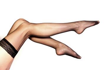 Woman Legs in Nylons