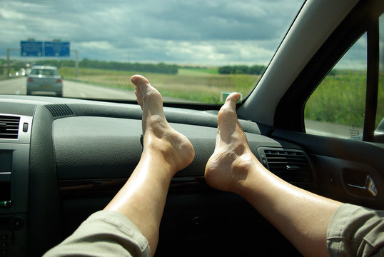 Relaxing in the car