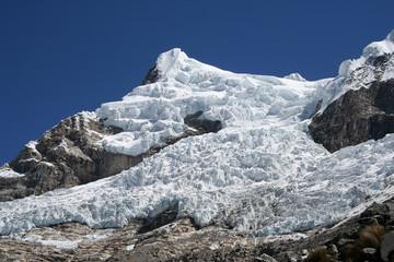 Glacier dans la cordillère blanche