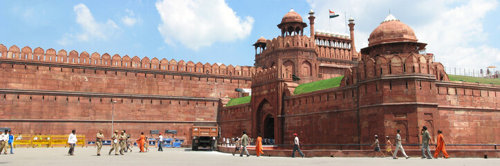 inde - red fort