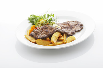 Steak on the plate
