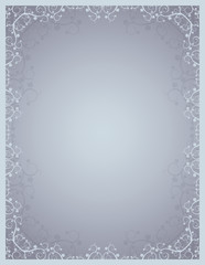 grey background  with lovely squiggles with leaves