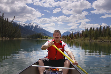 Kayaking on Bow River